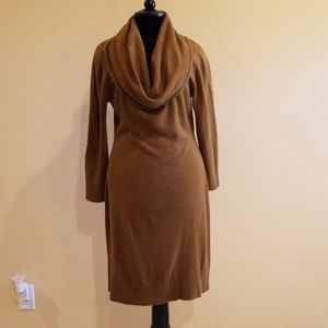 Dresses & Skirts - Cowl Neck Camel Brown Sweater Dress Size 8